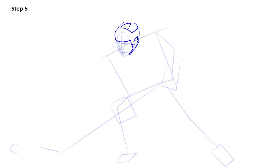 как нарисовать хоккеиста 5