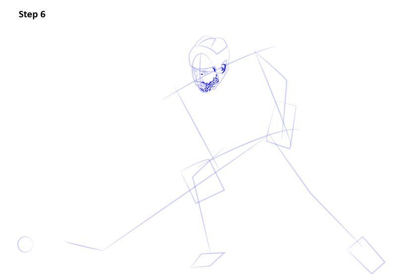 как нарисовать хоккеиста 6