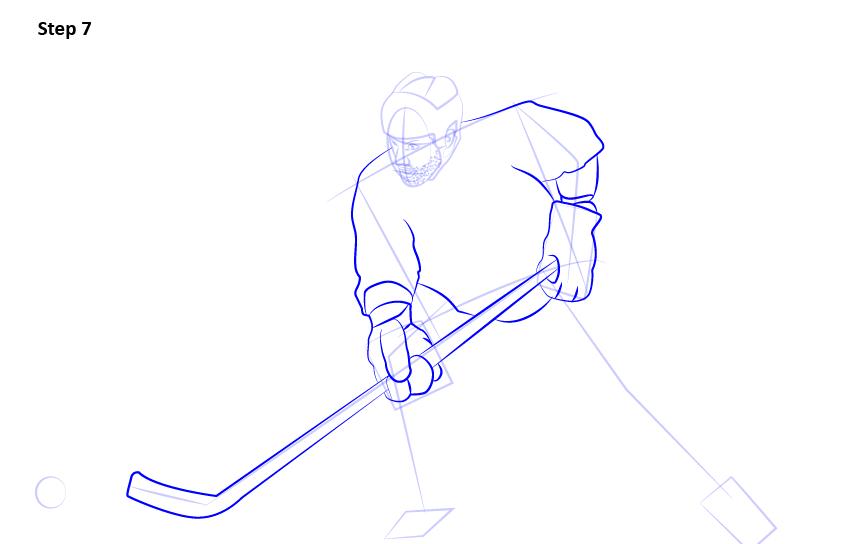 как нарисовать хоккеиста 7