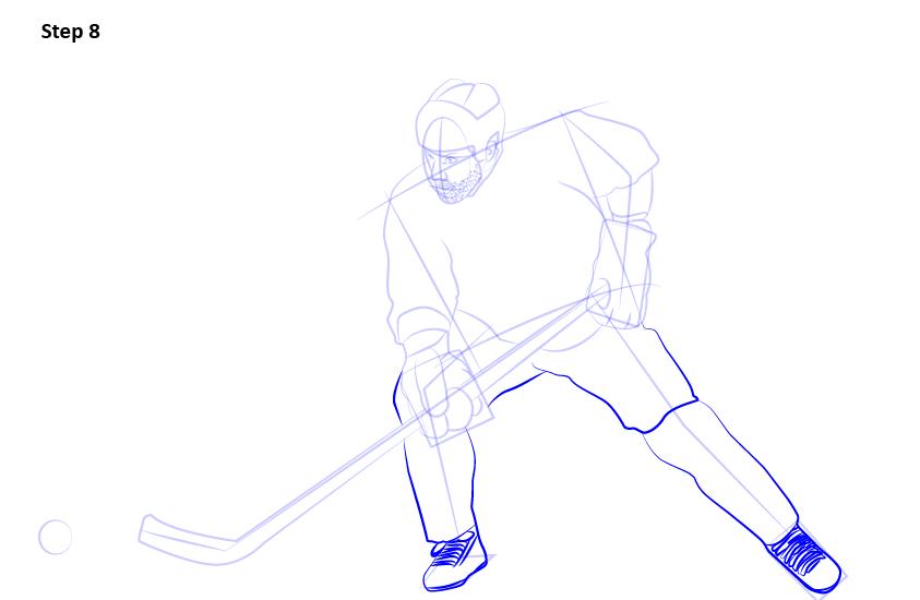 как нарисовать хоккеиста 8