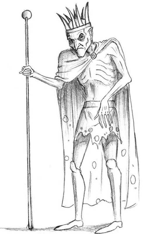 как нарисовать кощея бессмертного 10