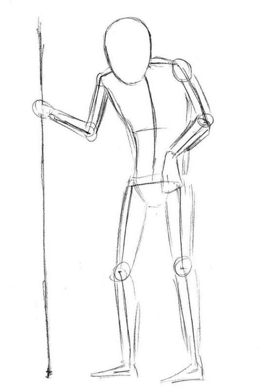 как нарисовать кощея бессмертного 3