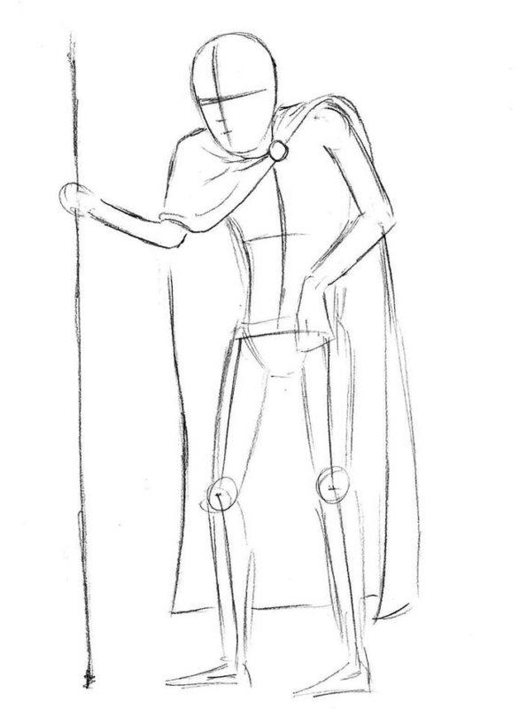 как нарисовать кощея бессмертного 4