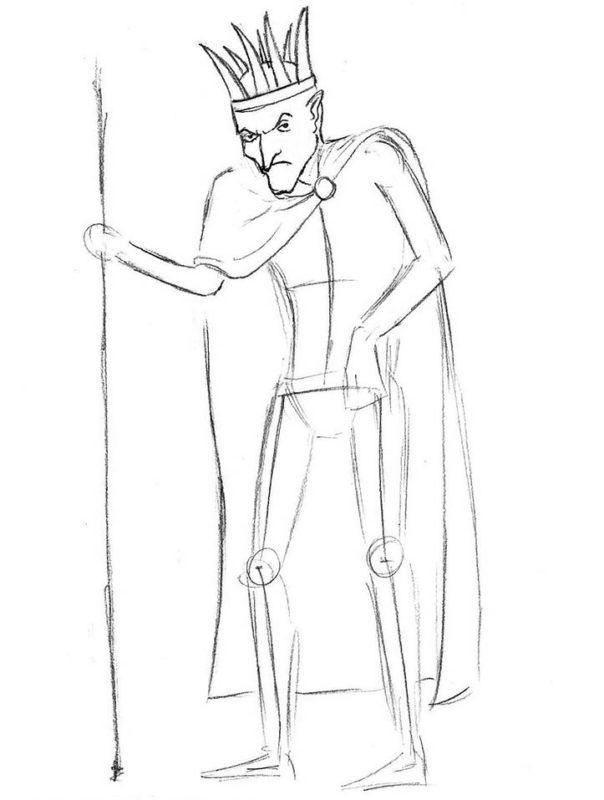 как нарисовать кощея бессмертного 5