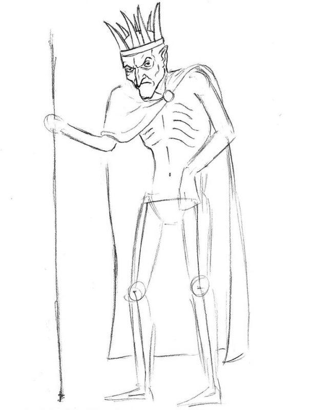 как нарисовать кощея бессмертного 6