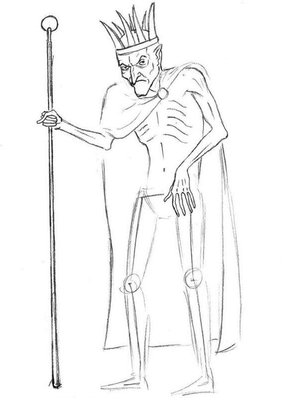 как нарисовать кощея бессмертного 7