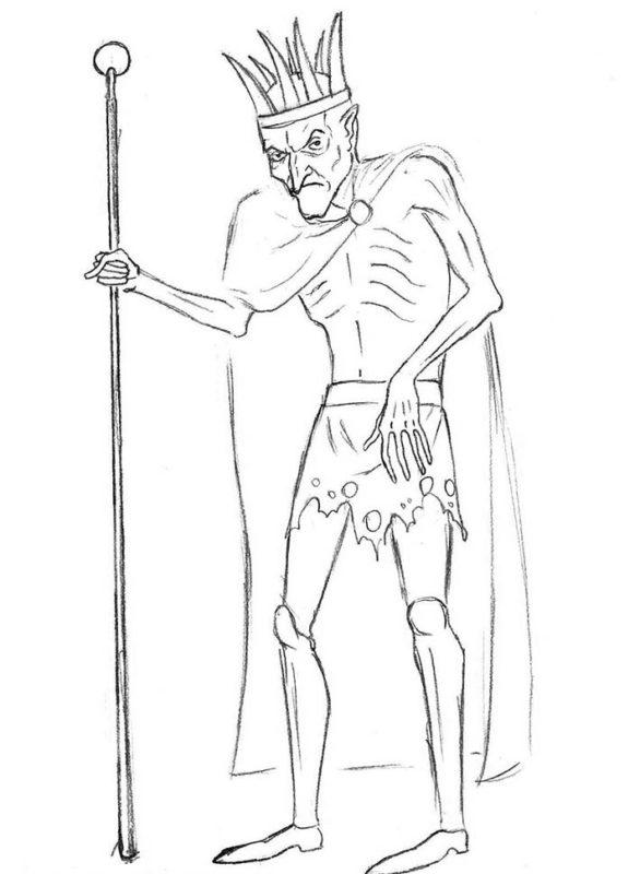 как нарисовать кощея бессмертного 8