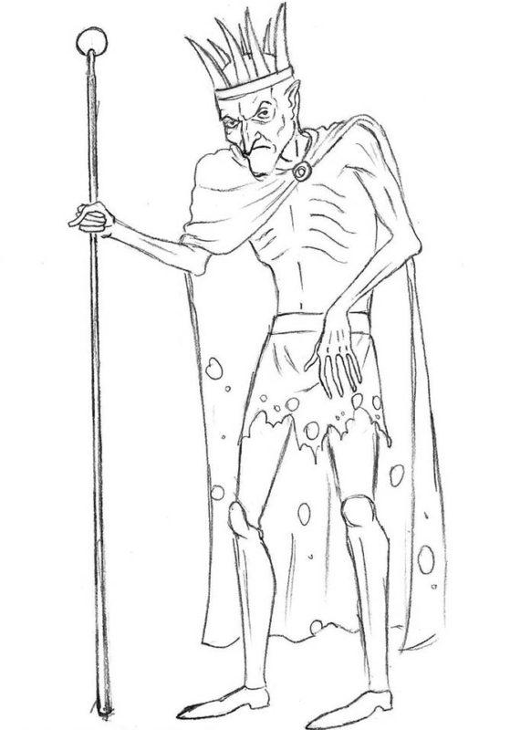 как нарисовать кощея бессмертного 9