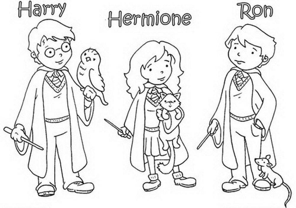 Раскраска Гарри Поттер 11
