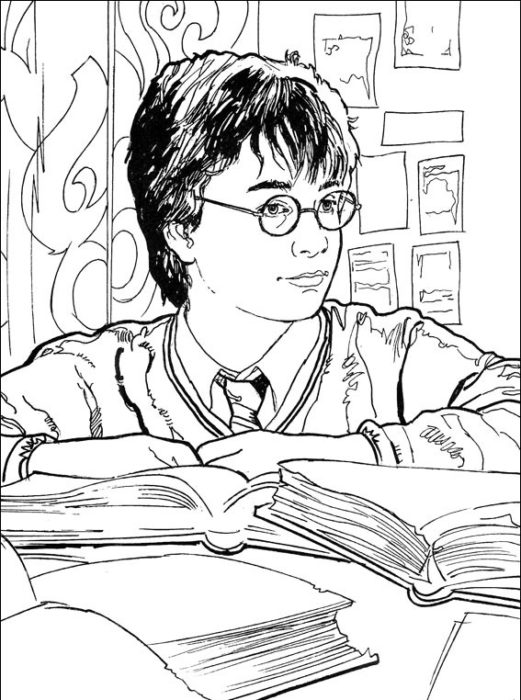 Раскраска Гарри Поттер 13