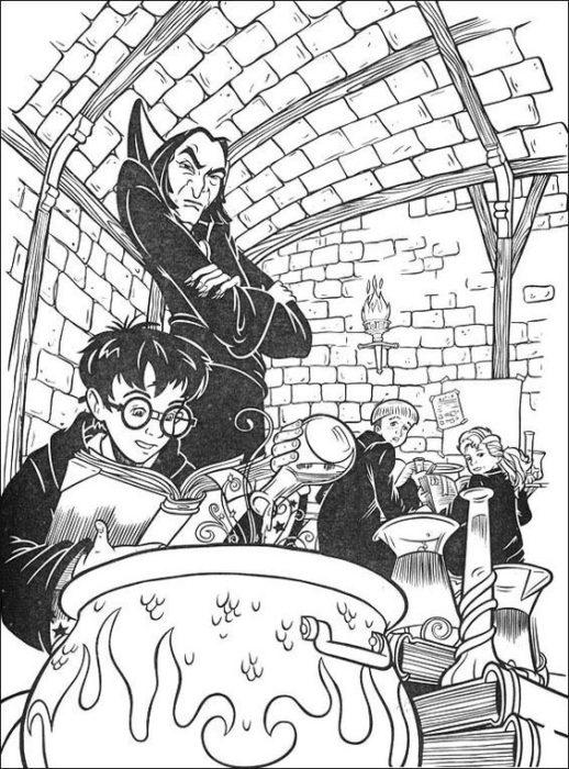 Раскраска Гарри Поттер 14