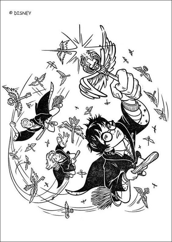 Раскраска Гарри Поттер 16