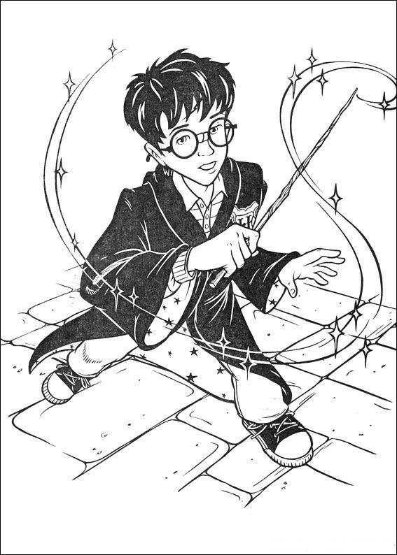 Раскраска Гарри Поттер 4