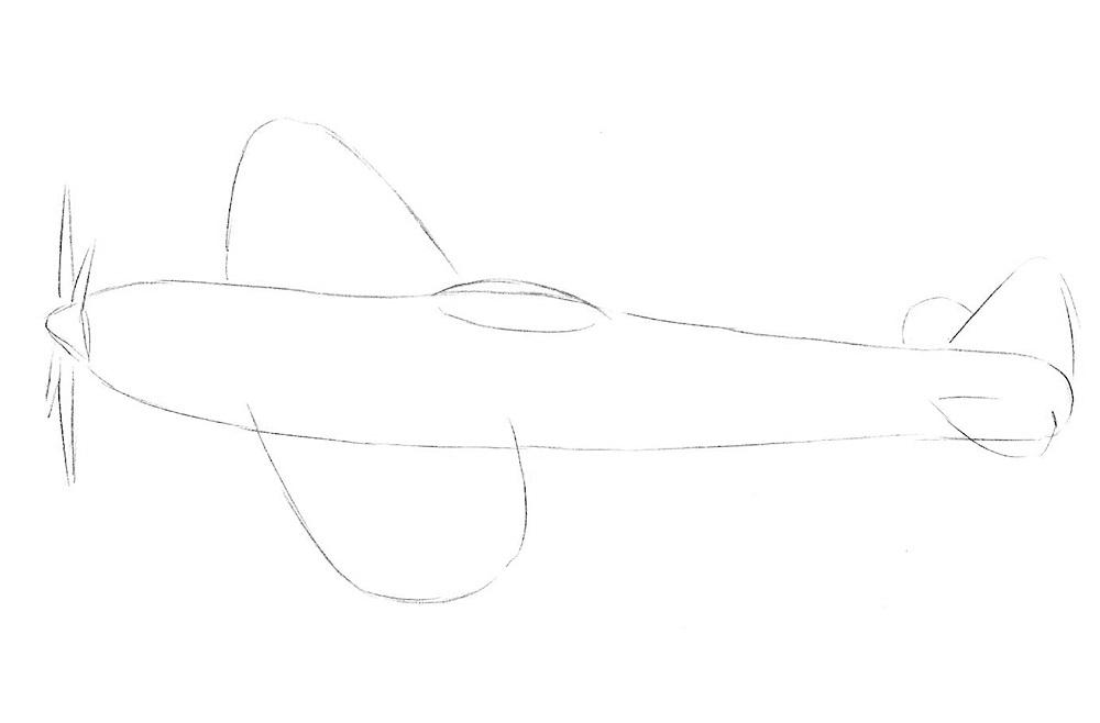 Рисуем истребитель 2