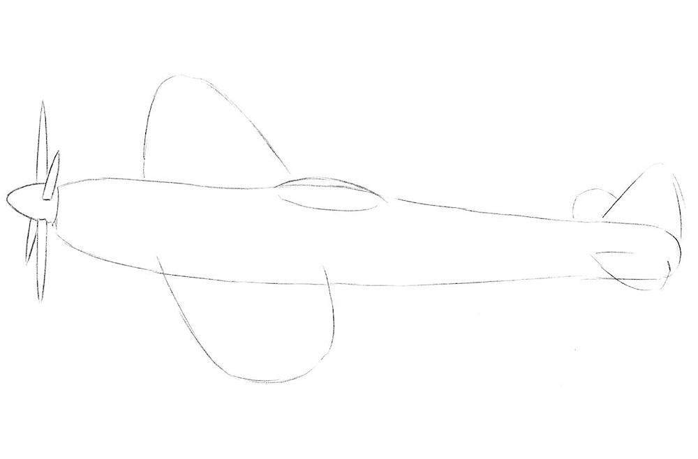 Рисуем истребитель 3
