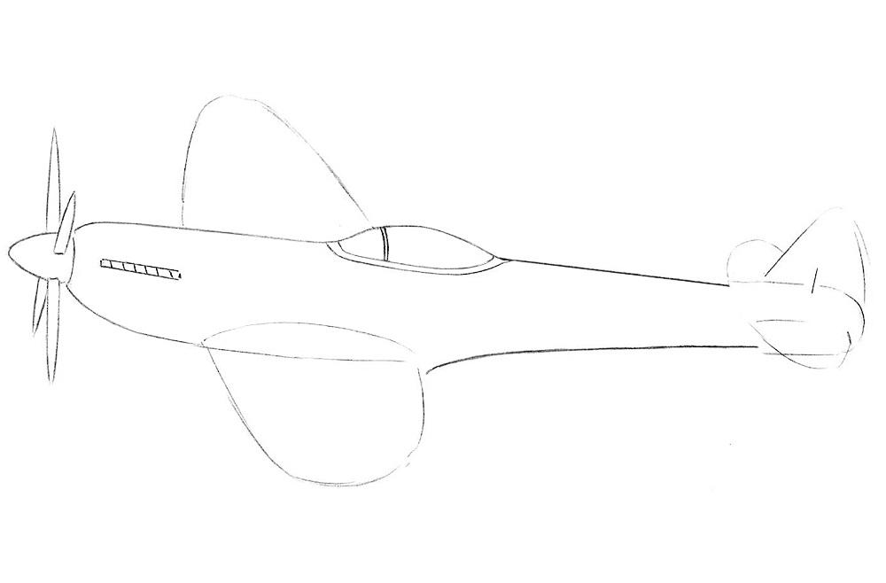 Рисуем истребитель 4