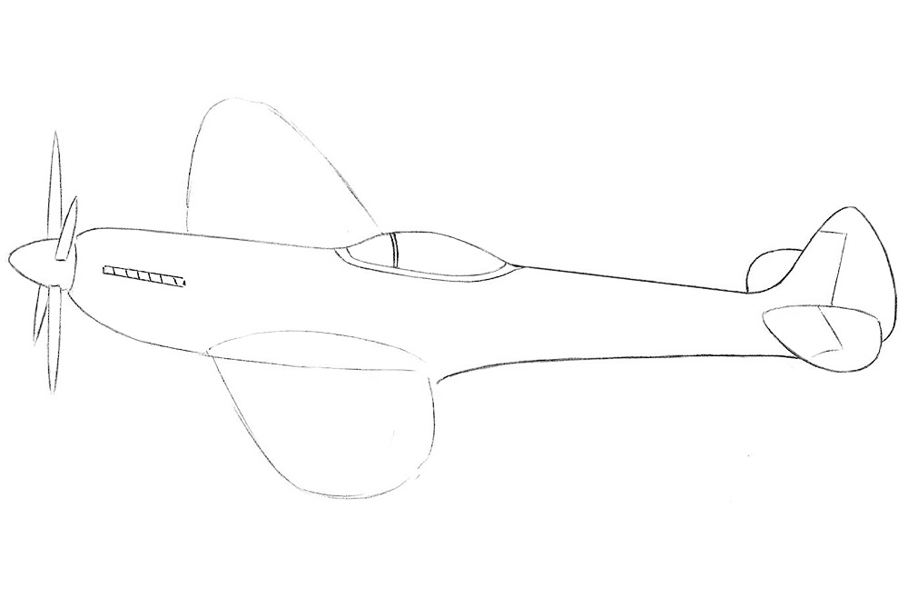 Рисуем истребитель 5