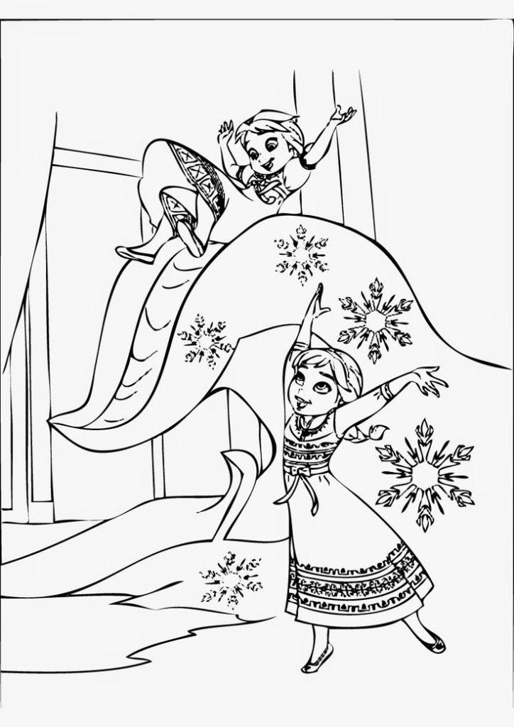 Раскраски Анны и Эльзы 15