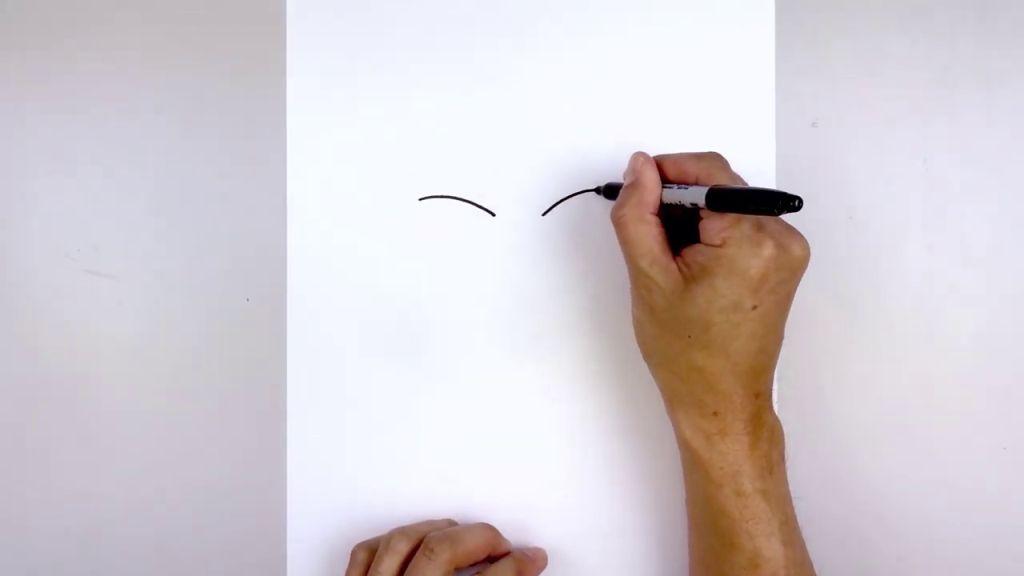 как нарисовать Бейна 1