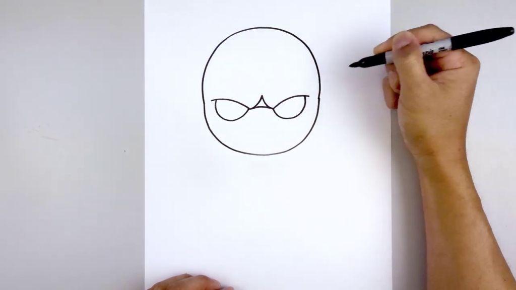 как нарисовать Бейна 3