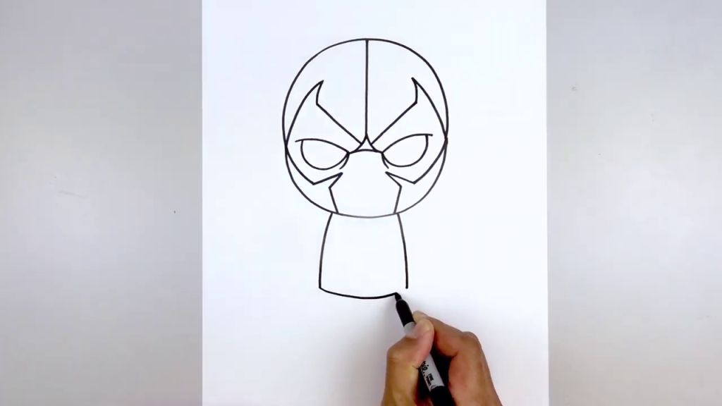 как нарисовать Бейна 6