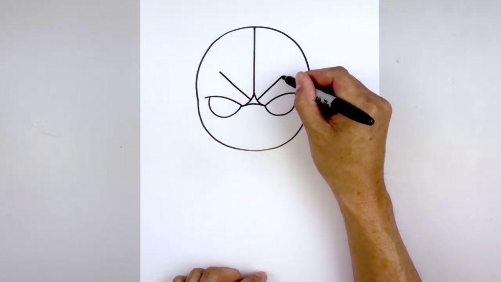 как нарисовать Бейна 4