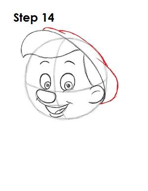 Как нарисовать пиноккио 14