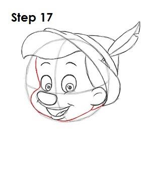 Как нарисовать пиноккио 17