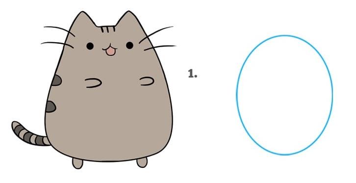 как нарисовать кошку Пушин1