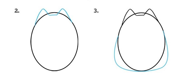 как нарисовать кошку Пушин2