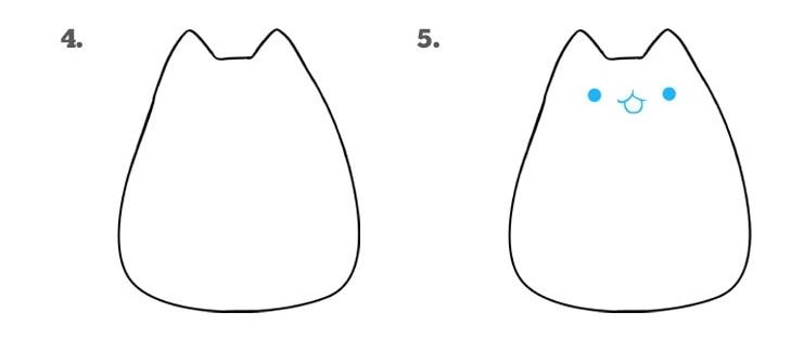 как нарисовать кошку Пушин3
