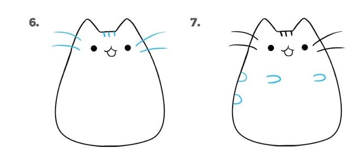 как нарисовать кошку Пушин4