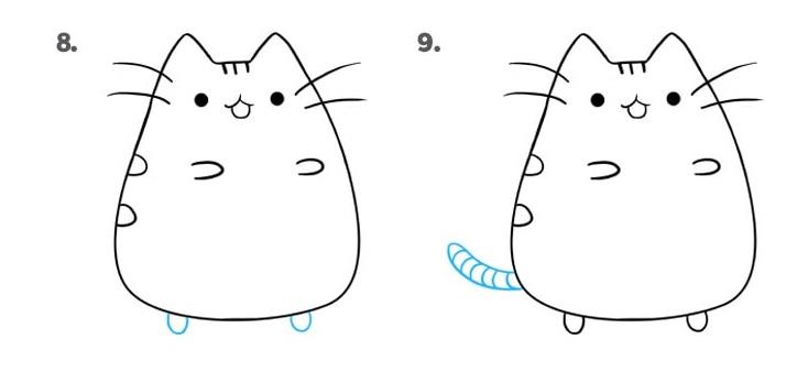 как нарисовать кошку Пушин 5