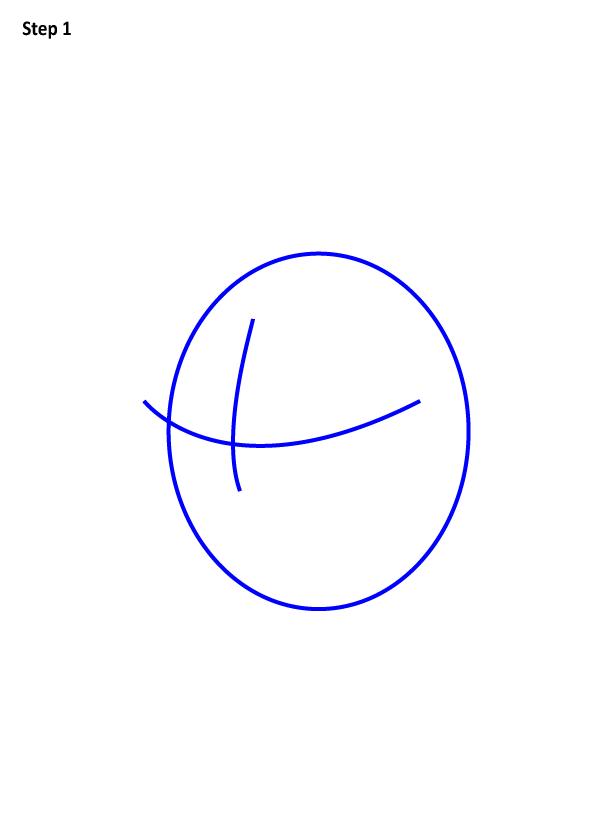 Рисуем голову дональда дака 2