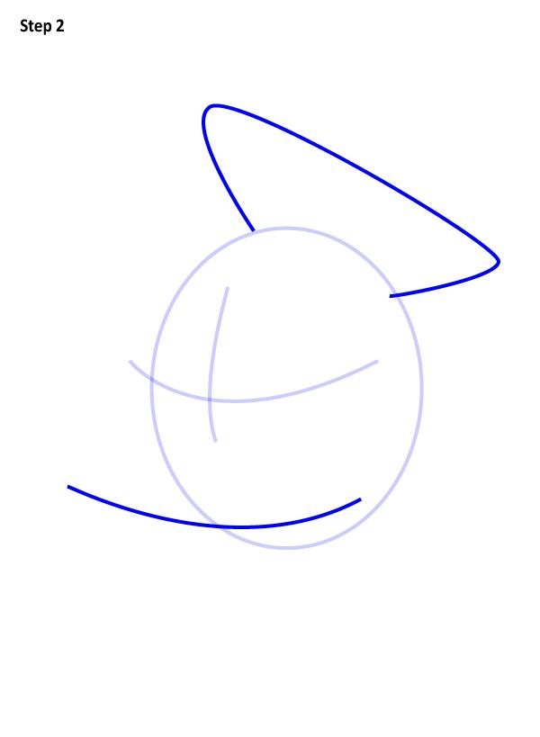 Рисуем голову дональда дака 3