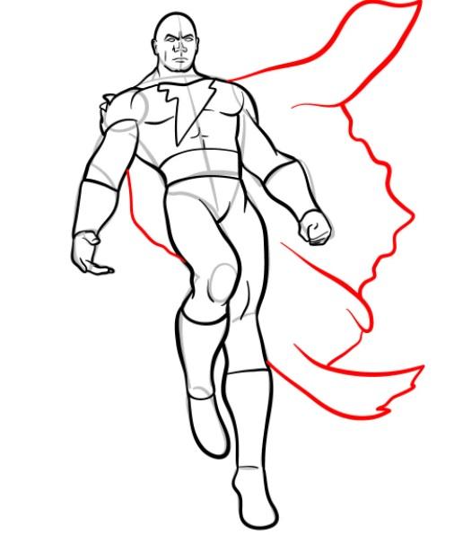 как нарисовать черного адама 10