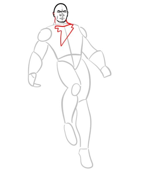 как нарисовать черного адама 4