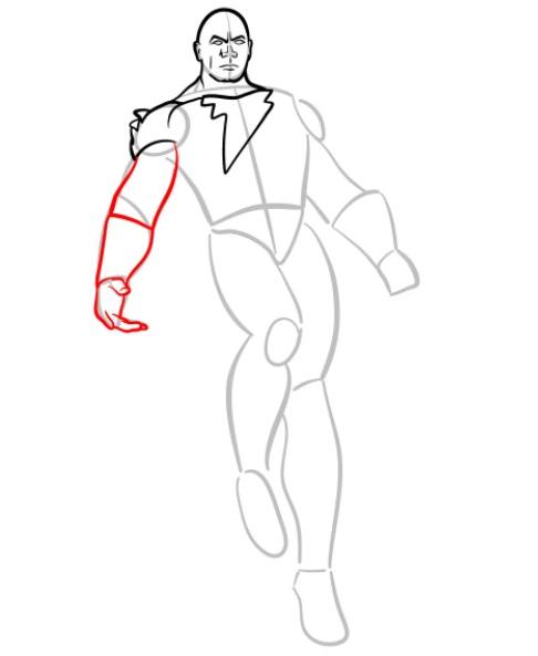 как нарисовать черного адама 5