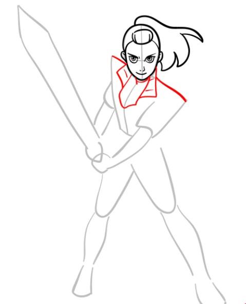 Как нарисовать Адору 5