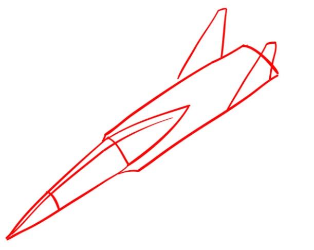 Как нарисовать истребитель Су 30 1