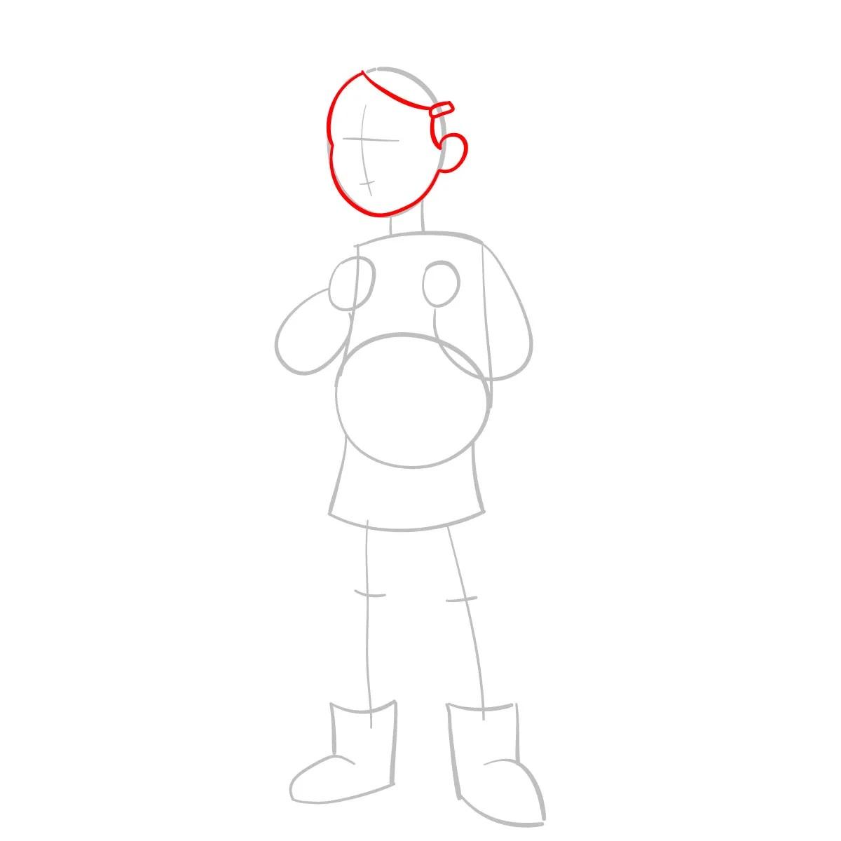 Как нарисовать Тюльпану Олсен 3