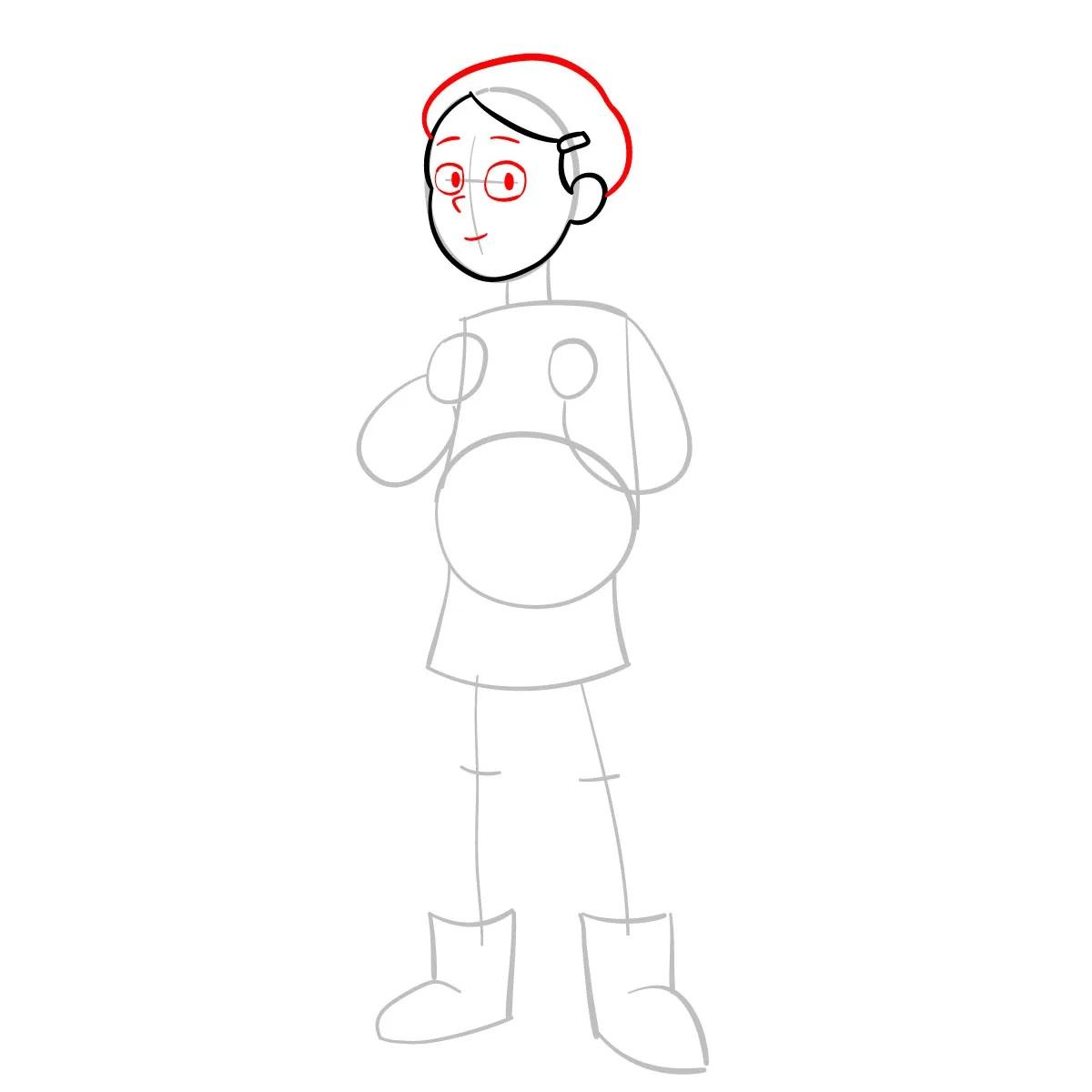 Как нарисовать Тюльпану Олсен 4