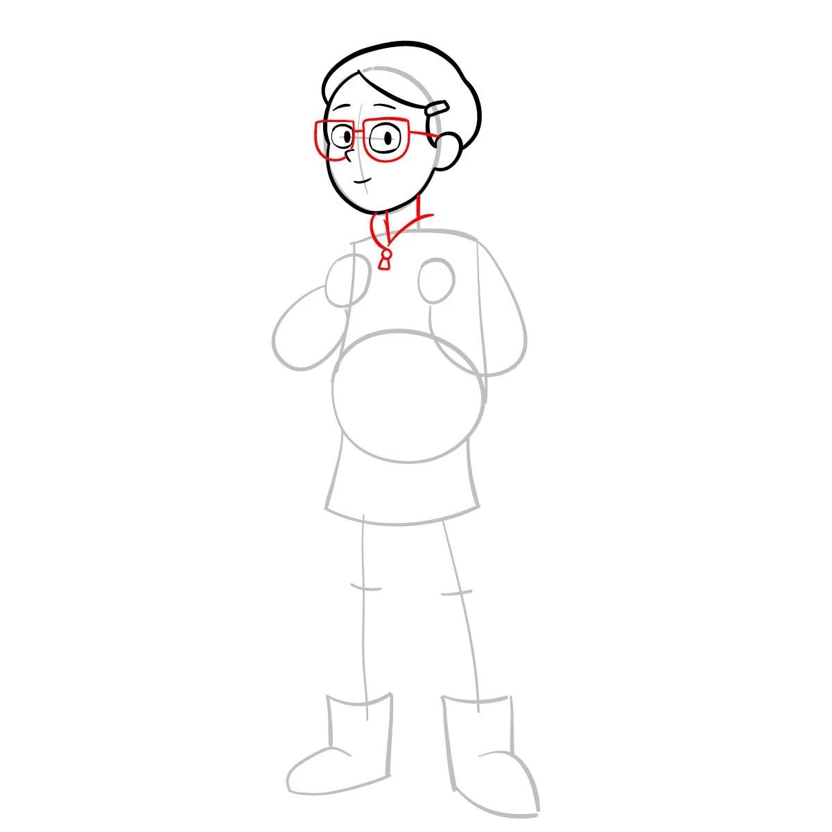 Как нарисовать Тюльпану Олсен 5