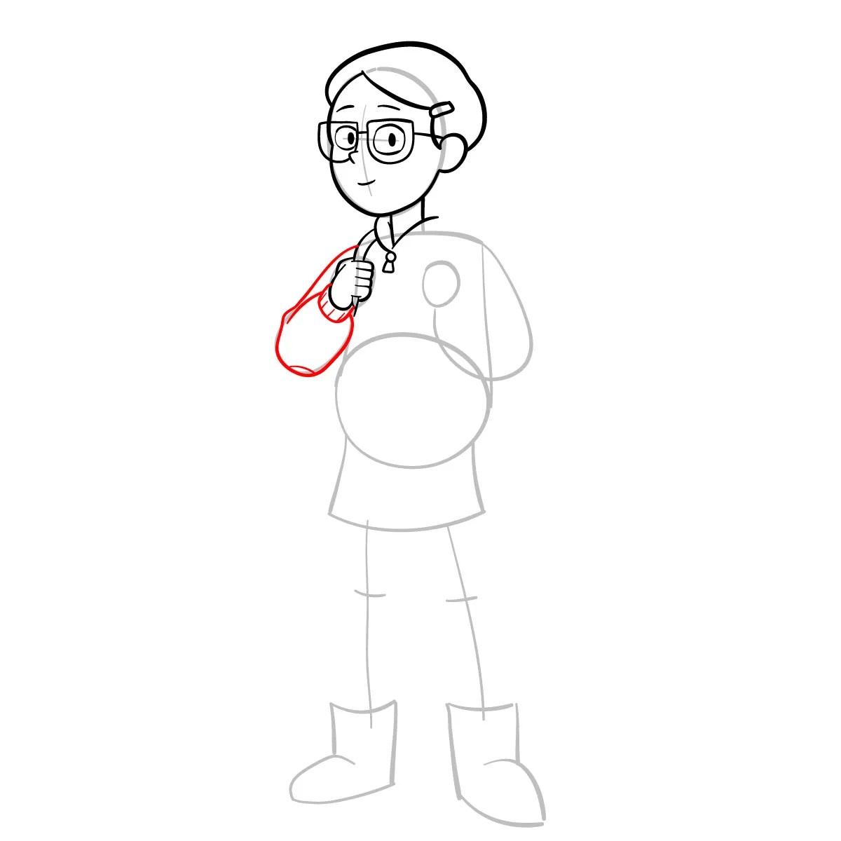 Как нарисовать Тюльпану Олсен 7