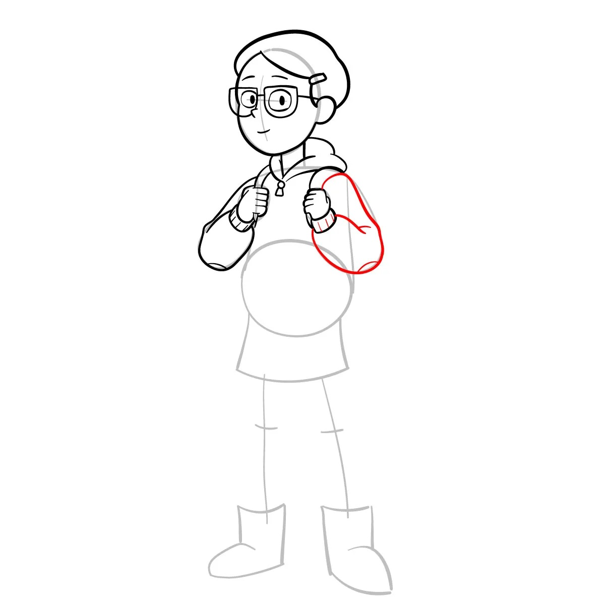 Как нарисовать Тюльпану Олсен 9