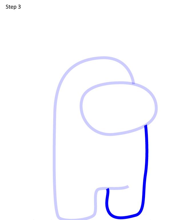 Как нарисовать персонажа Among Us 3