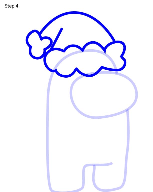 Как нарисовать персонажа Among Us 4