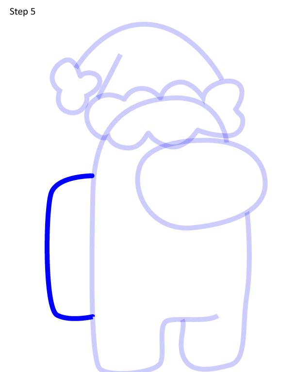 Как нарисовать персонажа Among Us 5