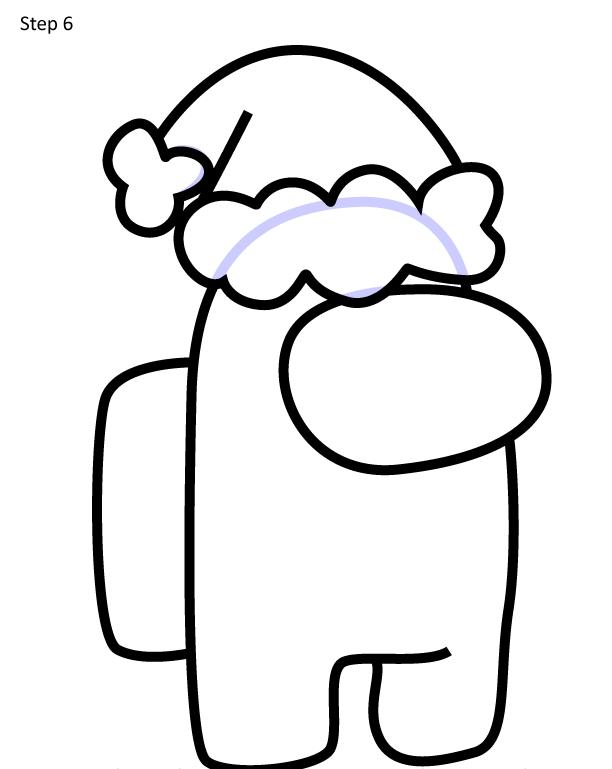 Как нарисовать персонажа Among Us 6