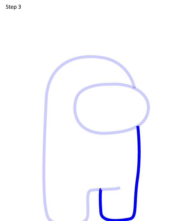 как нарисовать Among Us в ушанке 3